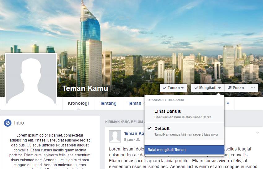 Status politik di Facebook